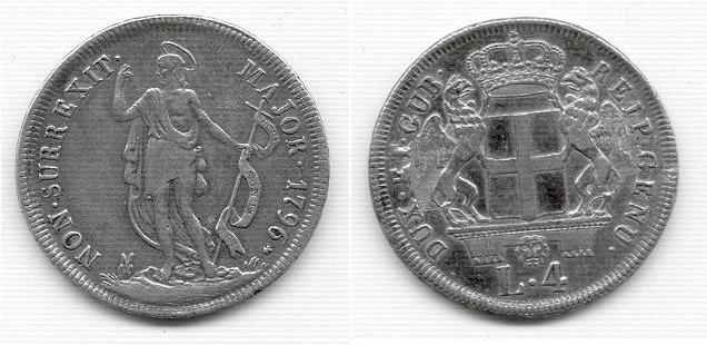 4 Lire 1796