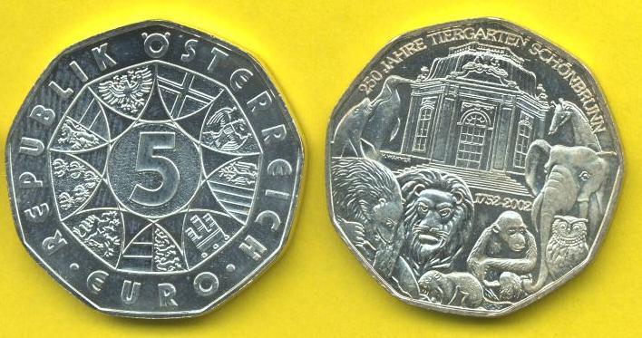 5 euro Argento 2002