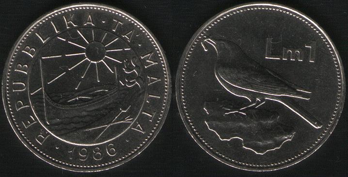 1 Lira - 1986