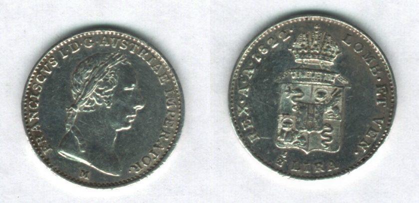 1/2 Lira Austriaca, Francesco I° d'Asburgo-Lorena