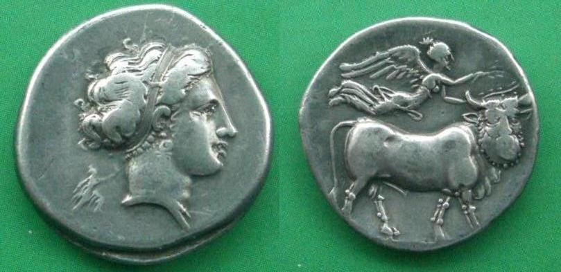 Campani, Neapolis, Statere o didracma (325-241 a.C.)