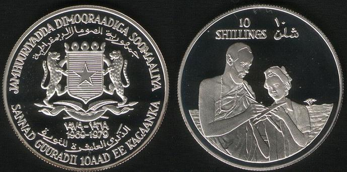 10 Shillings - 1979 (Uomo e Donna)