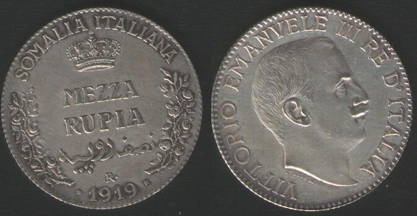 1/2 Rupia - 1919