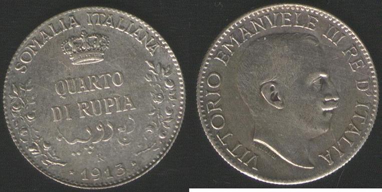 1/4 Rupia - 1913
