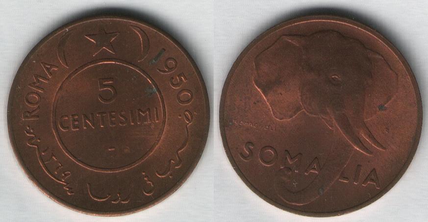 5 Centesimi - Somalia AFIS