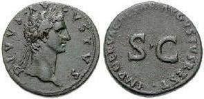 Augusto Sesterzio di Restituzione coniato sotto Nerva
