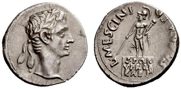 Augusto Denario - monetiere L. Mescinius Rufus.