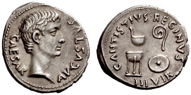 Augusto Denario - monetiere C. Antistius Reginus