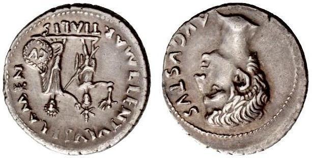 Augusto Denario - monetiere L. Cornelius Lentulus