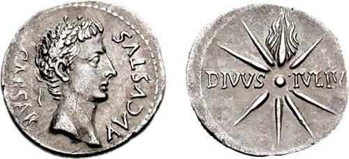 Augusto denario - Colonia Caesaraugusta?