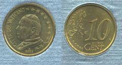 Vaticano 10 cent 2002-2005