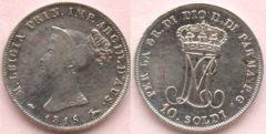 10 soldi del Ducato di Parma - Maria Luigia d'Asburgo