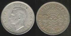 Two Shillings - re Giorgio VI - II tipo