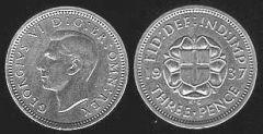 Threepence - re Giorgio VI