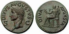 Augusto Dupondio postumo coniato sotto Claudio I