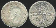Half Crown - re Giorgio VI - II tipo